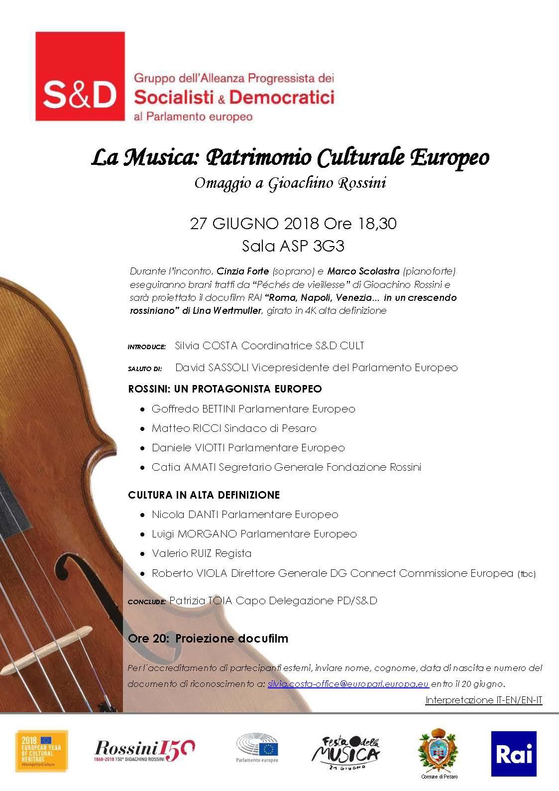 Celebrazioni Archivi - Gioacchino Rossini